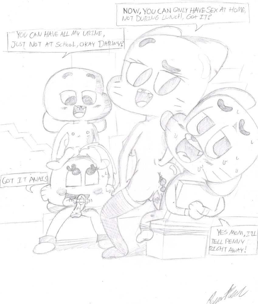gumball of watterson world amazing nicole My life as a teenage robot space bikers
